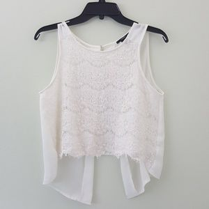 •Forever 21 White Flowy Top•